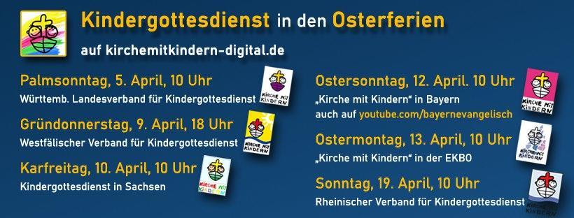 Online-Kindergottesdienst in den Osterferien