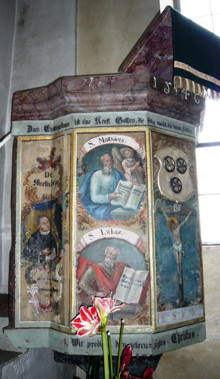 Die Kanzel von 1546 - Luthers Todesjahr: Der Reformator ist noch voll präsent